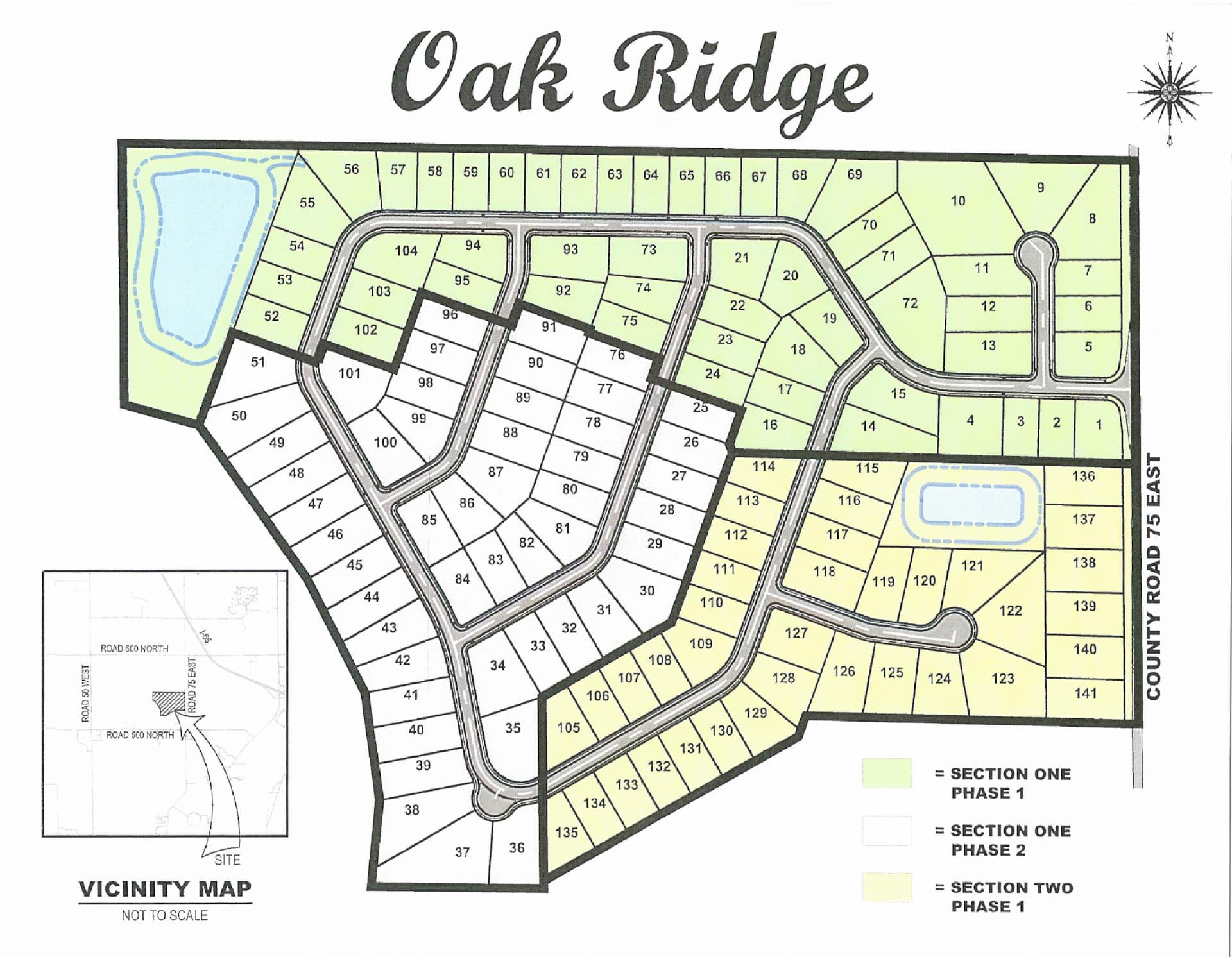oak ridge community map